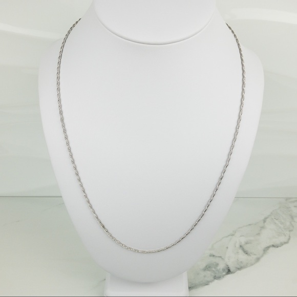 Vintage Coro Sterling Rope Chain Necklace